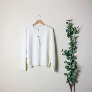 NWT Mustard Seed White Sweater Large